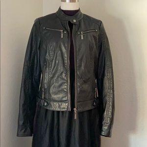 Vegan moto jacket